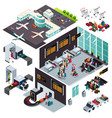 isometric design of an airport vector image