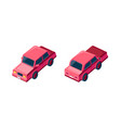 isometric set red sedan car vector image vector image