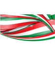 italian and mexican background flag vector image
