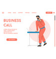 landing page business call concept vector image