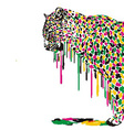 Leopard abstract painting vector image vector image