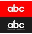letter A B C logo paper set background vector image vector image