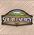 logo for solar energy vector image vector image