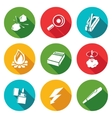Make a fire the fire source Icons Set vector image vector image