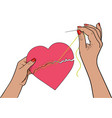 mended heart vector image