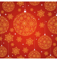 Merry Christmas red seamless pattern background vector image vector image