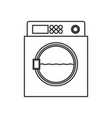 monochrome silhouette of wash machine vector image vector image