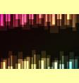 multicolor bar overlap in dark background vector image vector image
