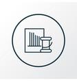 needle set icon line symbol premium quality vector image