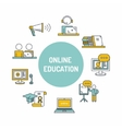 Online Education set Icon vector image