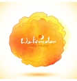 Orange watercolor paint stain imitation vector image