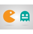 Pacman ghosts 8bit retro color game icons set EPS vector image