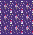 pattern new year 2021 seamless pattern with santa vector image vector image