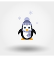 Penguin in a knitted cap vector image vector image