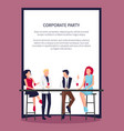 people drinking and having fun vector image vector image
