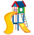playground cubby house white background vector image vector image