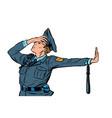 police officer shame denial gesture no vector image vector image