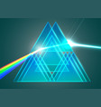 prisms and refraction vector image