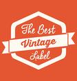 Retro and Vintage label design vector image vector image