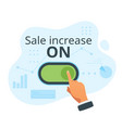 sale increase concept vector image