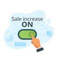 sale increase concept vector image vector image