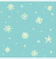 seamless pattern hand drawn white snow flakes on vector image