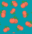 seamless pattern peach on azure background vector image vector image