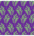 Seamless pattern with autumn rowan foliage vector image