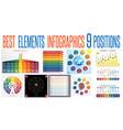 set 10 universal templates elements infographics vector image vector image