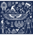 set isolated egypt symbols vector image vector image