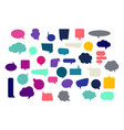 set of blank empty colorful speech bubbles vector image vector image