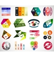 Set of infographic elements and banner templates vector image