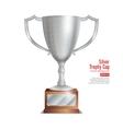 Silver Trophy Cup Winner Concept Award Design vector image vector image