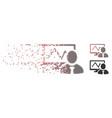 sparkle pixel halftone online trader icon vector image vector image