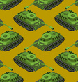 Tank Isometric seamless pattern Army machinery vector image vector image