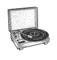 turntable record player sketch vector image
