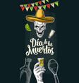 vertical poster for dia de los muertos vector image vector image