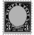 vintage postal mark vector image