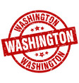 washington red round grunge stamp vector image vector image