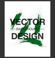 watercolor poster square acrylic stroke card vector image vector image