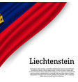 waving flag of liechtenstein vector image vector image