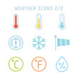 weather icons two vector image
