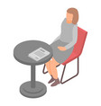 woman office manager icon isometric style vector image vector image