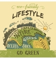 Eco friendly lifestyle concept vector image