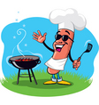 barbecue hot dog vector image