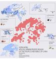 Dot And Flag Map Of Hong Kong Infographic Design vector image