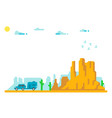 flat design arizona trip background vector image