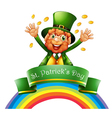 A man celebrating the day of St Patrick vector image vector image