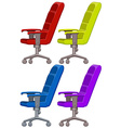 Armchair in four colors vector image vector image