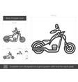 bike chopper line icon vector image